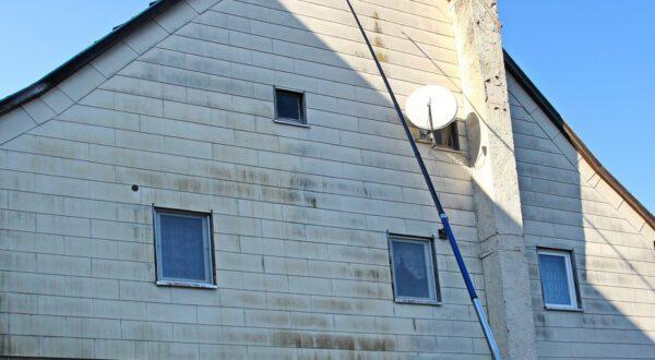 Fassadenreinigung Teleskoplanze